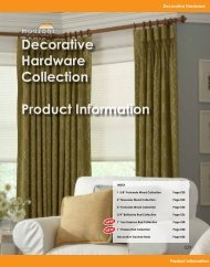 Decorative Hardware Collection Product Information