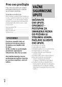 Sony FDR-AX33 - FDR-AX33 Istruzioni per l'uso Croato - Page 2