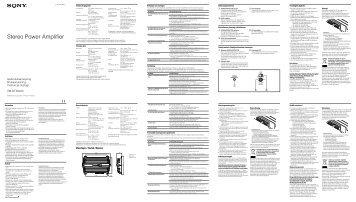 Sony XM-GTX6020 - XM-GTX6020 Istruzioni per l'uso Olandese