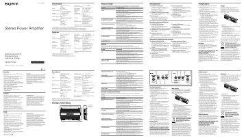 Sony XM-GTR7040 - XM-GTR7040 Istruzioni per l'uso Polacco