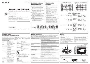Sony XM-SD46X - XM-SD46X Istruzioni per l'uso Slovacco