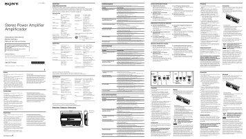 Sony XM-GTR7040 - XM-GTR7040 Istruzioni per l'uso Inglese