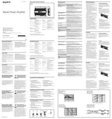 Sony XM-GTR2202 - XM-GTR2202 Istruzioni per l'uso Italiano
