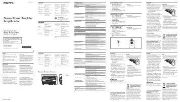 Sony XM-GTX6021 - XM-GTX6021 Istruzioni per l'uso Spagnolo