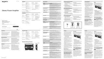 Sony XM-GTX6041 - XM-GTX6041 Istruzioni per l'uso Francese
