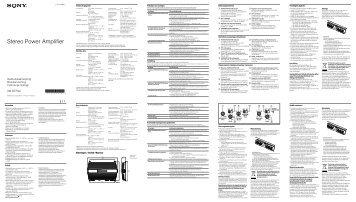 Sony XM-GTR4A - XM-GTR4A Istruzioni per l'uso Svedese