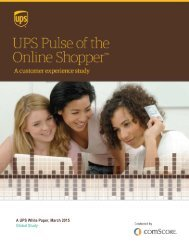 A UPS White Paper March 2015 Global Study