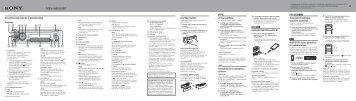 Sony MEX-N4000BT - MEX-N4000BT Guida di configurazione rapid Ungherese