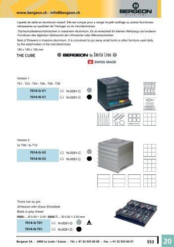 www.bergeon.ch - info@bergeon.ch THE CUBE
