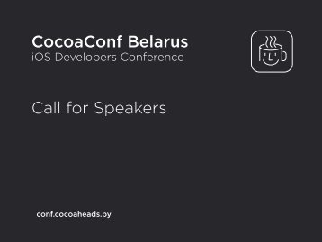 CocoaConf Belarus Call for Speakers