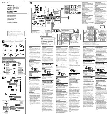 Sony CDX-M670 - CDX-M670 Guida di installazione Inglese