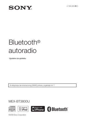 Sony MEX-BT3800U - MEX-BT3800U Istruzioni per l'uso Serbo