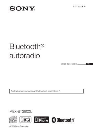 Sony MEX-BT3800U - MEX-BT3800U Istruzioni per l'uso Croato