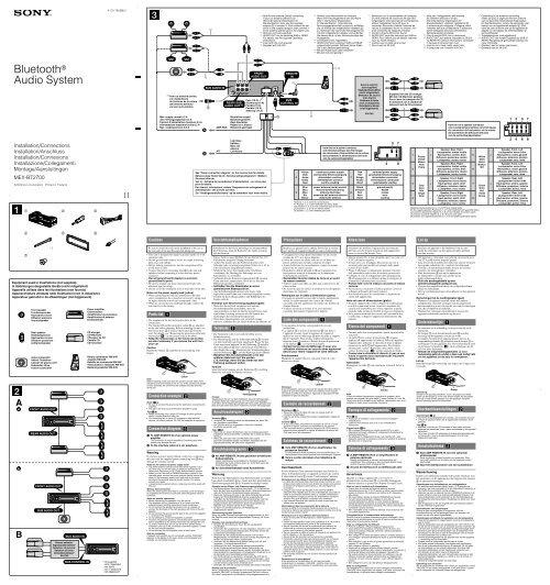 Sony Mex Bt2700 Wiring Diagram Wiring Diagram
