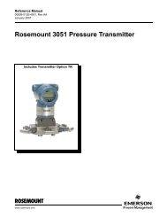 Rosemount 3051 Pressure Transmitter - Emerson Process ...