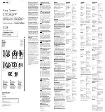 Sony XS-GTX1741 - XS-GTX1741 Istruzioni per l'uso Svedese
