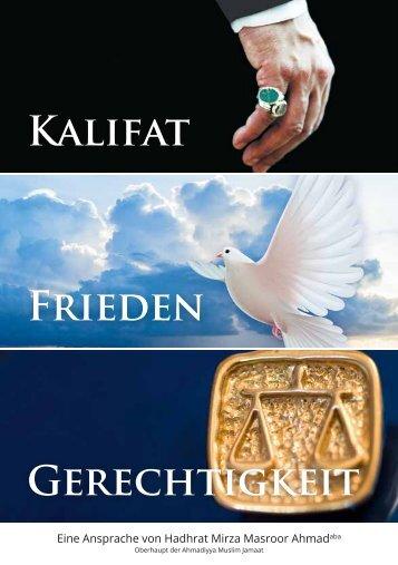 Kalifat Frieden Gerechtigkeit