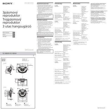 Sony XS-XB690 - XS-XB690 Istruzioni per l'uso Ungherese