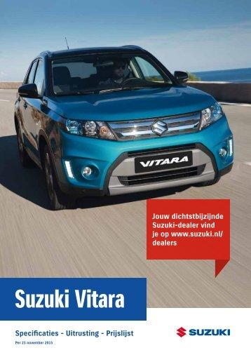 Suzuki Vitara specificatieprijslijst 23nov2015