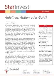 StarInvest Anleihen, Aktien oder Gold? - FONDS InvestBeratung ...