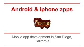 Mobile app development in San Diego,California