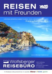 Wolfsberger Reisebüro Katalog Frühling/Sommer 2016