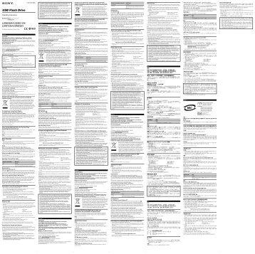 Sony USM2GH - USM2GH Istruzioni per l'uso Slovacco
