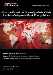 How the Euro-Area Sovereign-Debt Crisis Led to a Collapse in Bank Equity Prices