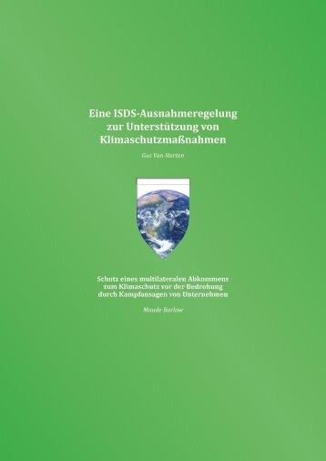 Eine ISDS-Ausnahmeregelung zur Unterstützung von Klimaschutzmaßnahmen