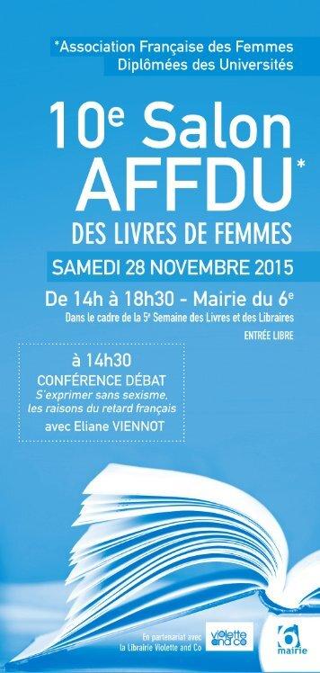 10 Salon du Livre AFFDU .. des Livres de Femmes