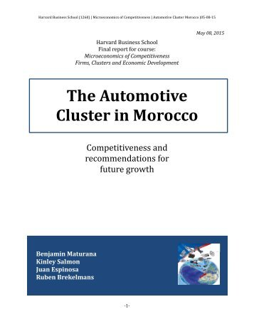 The Automotive Cluster in Morocco