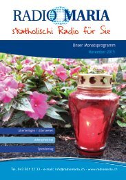 Radio Maria Schweiz - November 2015