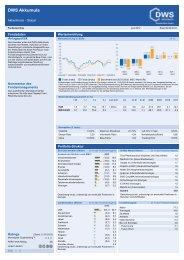 Factsheet DWS Akkumula