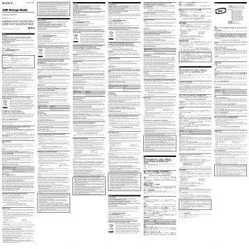 Sony USM4GJX - USM4GJX Istruzioni per l'uso Slovacco