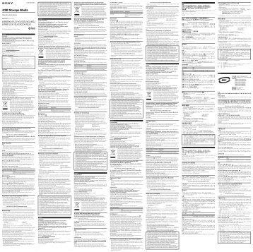 Sony USM1GJ - USM1GJ Istruzioni per l'uso Polacco