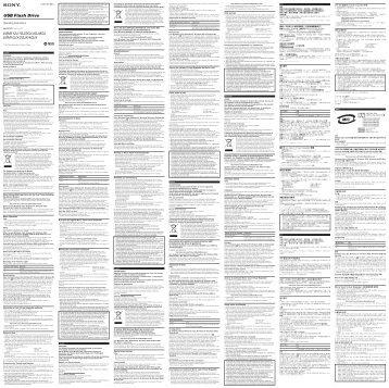 Sony USM1GJ - USM1GJ Istruzioni per l'uso Ceco
