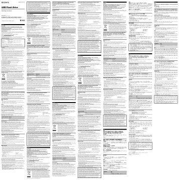 Sony USM1GJ - USM1GJ Istruzioni per l'uso Ungherese