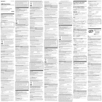 Sony USM1GJ - USM1GJ Istruzioni per l'uso Slovacco