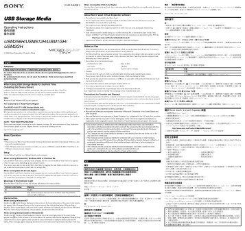 Sony USM256H - USM256H Istruzioni per l'uso Ceco