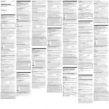 Sony USM8GN - USM8GN Istruzioni per l'uso Ceco