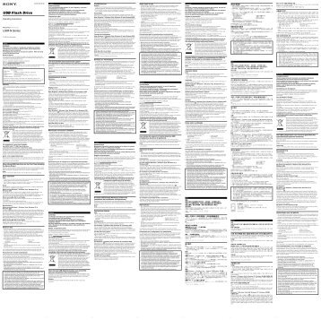 Sony USM8GN - USM8GN Istruzioni per l'uso Ungherese