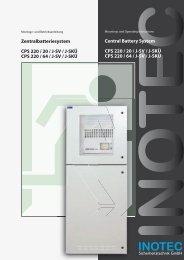 Zentralbatteriesystem CPS 220 / 20 / J-SV / J-SKÜ CPS 220 / 64 / J ...