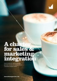 A charter for sales & marketing integration
