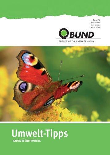BUND Umwelt-Tipps Tübingen/Reutlingen 2015