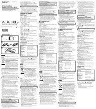 Sony MS-A2GU - MS-A2GU Istruzioni per l'uso Ceco