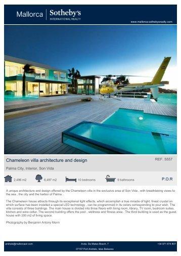 Chameleon villa architecture and design