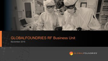 GLOBALFOUNDRIES RF Business Unit
