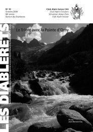 Le Trient avec la Pointe d'Orny - Club Alpin Suisse - Section des ...