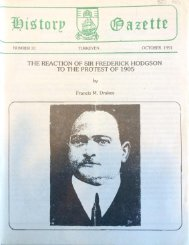 The reaction of Sir Frederick Hodgson to the Protest of 1905