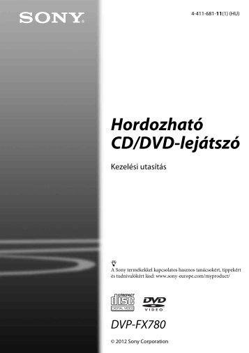 Sony DVP-FX780 - DVP-FX780 Istruzioni per l'uso Ungherese